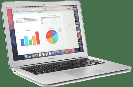 Laptop Website Design