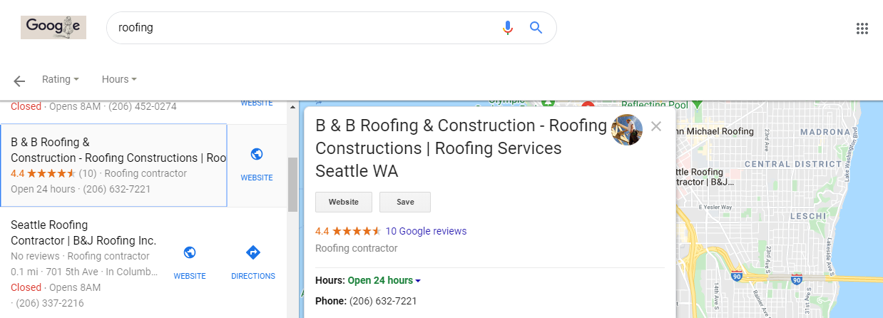 Keyword Stuffing in Google Maps Results in Seattle WA