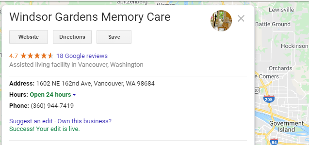 Keywords Stuffing Example from a Memory Care Facility