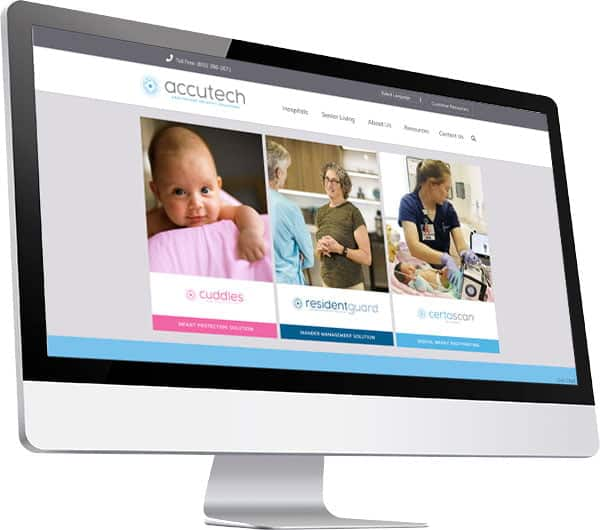 Accutech website on mac screen
