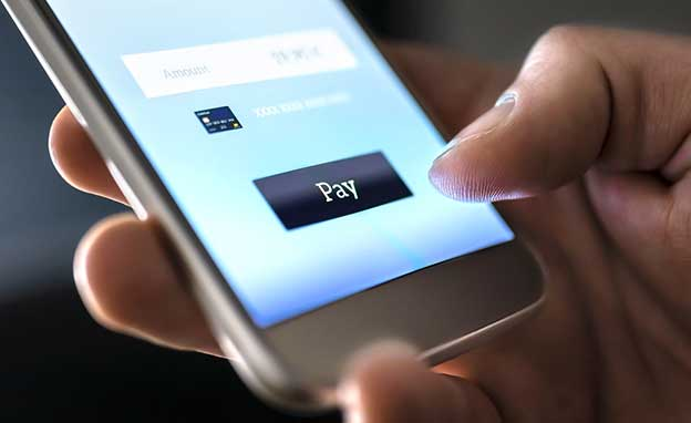 making a payment on a mobile phone