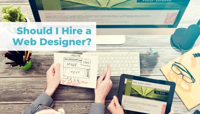 Should I hire a web designer header
