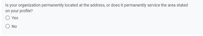 Google's address question screenshot